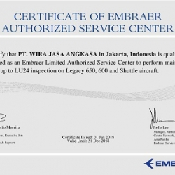 CERTIFICATE OF LIMITED AUTHORIZED SERVICE CENTER FOR LEGACY 600 AND 650